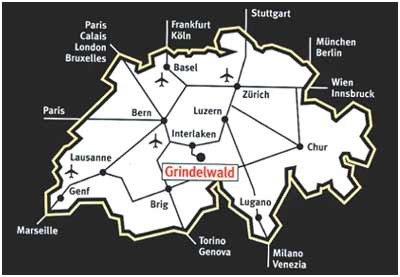 SwissSkiVacations : Grindelwald Location & Map