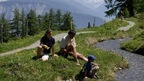 an extensive net work of hiking paths is offered in the Crans-Montana region, Valais-Switzerland