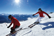 Skiing the slopes of the Crans-Montana Snowsports region