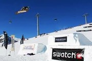 The Adrenaline Space snowpark in Crans-Montana offers numerous activities for freestyle skiers and snowboarders