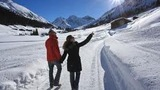 winter hiking on well-marked and groomed trails in and around Davos