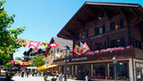 The Gstaad Promenade - the car-free shopping street in Gstaad, Berner Oberland