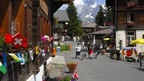 Mürren's main street for shopping of souvenirs and more