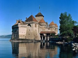 Castle of Chillon near Montreux - Lake Geneva - Switzerland