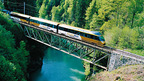 Golden Pass scenic train from Montreux to Gstaad
