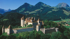 the small town of Gruyere with its Castle, Cheese Factory and nearby Chocolate Factory