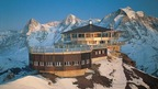 Schilthorn - Piz Gloria with the revolving restaurant offering spectacular views of the Swiss Alps