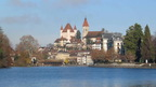 Thun with its famous castle, gateway to the Bernese Alps in Switzerland