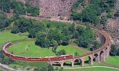 Bernina Express - scenic train of the Swiss Alps
