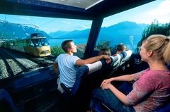 VIP-seats on the Golden Pass scenic train; enjoy the ride in the front row - a very special experience !