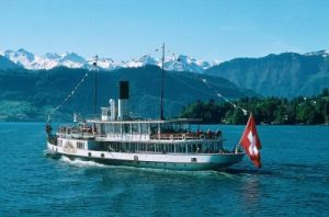 paddle-wheel steamer of the William Tell Express on Lake Lucerne