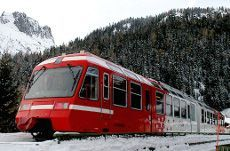 The St. Bernard Express Train - from Martigny to the Val de Bagnes Valley