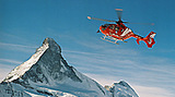 Heliskiing is popular in the mountains surrounding Zermatt, Switzerland
